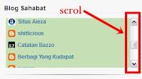 Cara membuat Scrol Pada Widget Blog