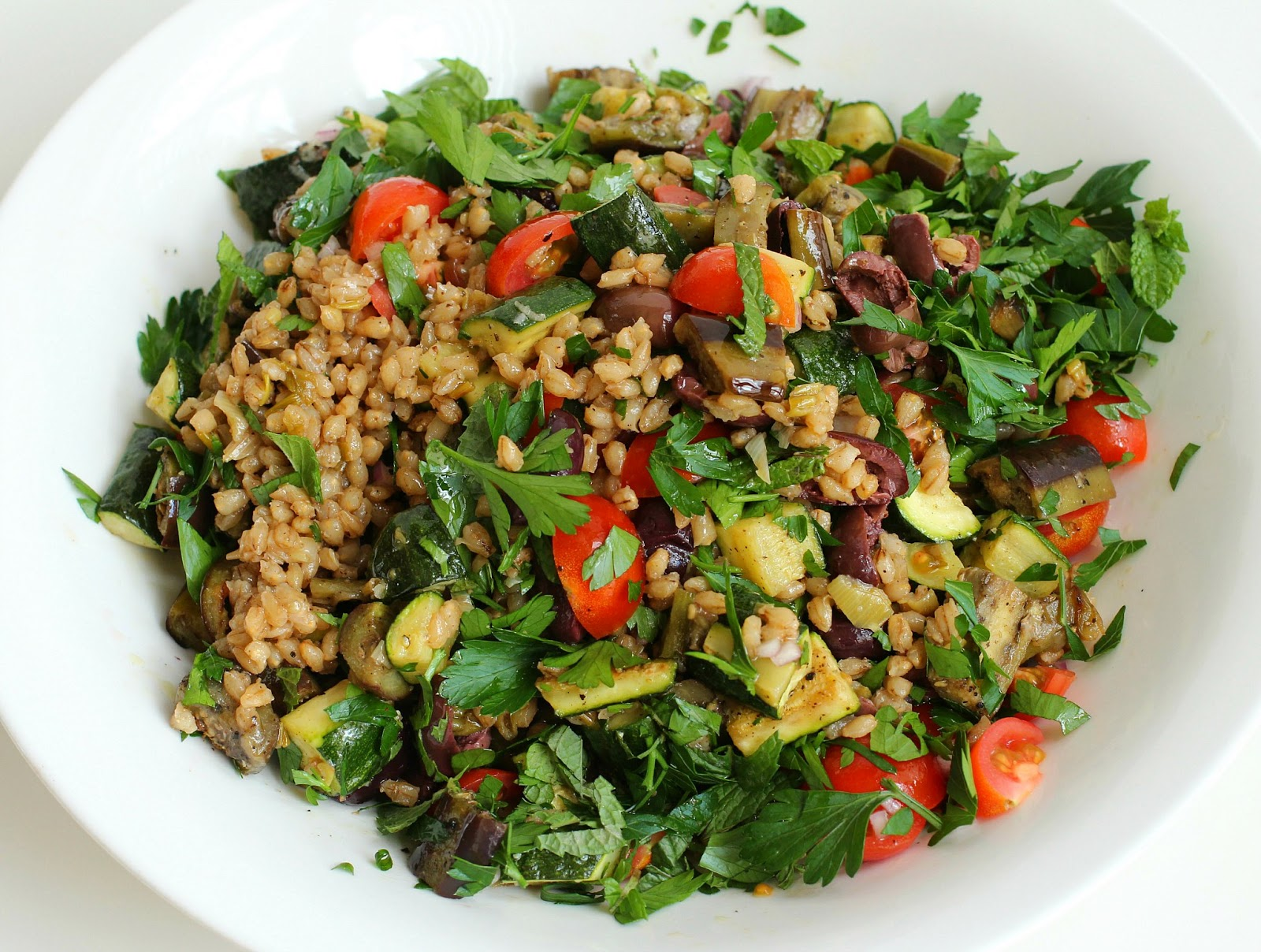 Milk and Honey: Mediterranean Eggplant and Barley Salad