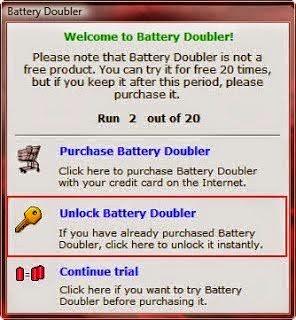 Battery Doubler, Software Penghemat Baterai