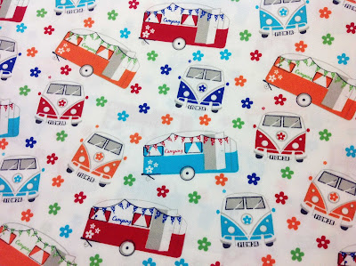 Camper Van fabric designed by Victoria Louise, Craft Cotton