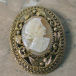 Vintage brooch of a cameo