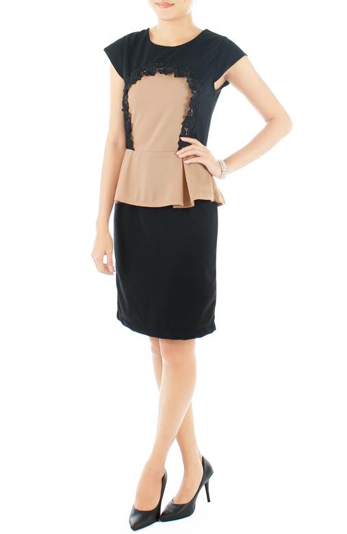Black Wallgarden Peplum Dress