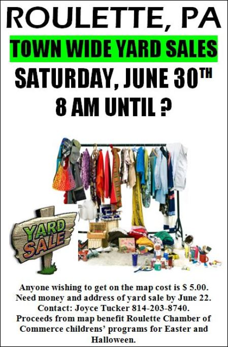 Sign Up For Roulette Town-Wide Yard Sale