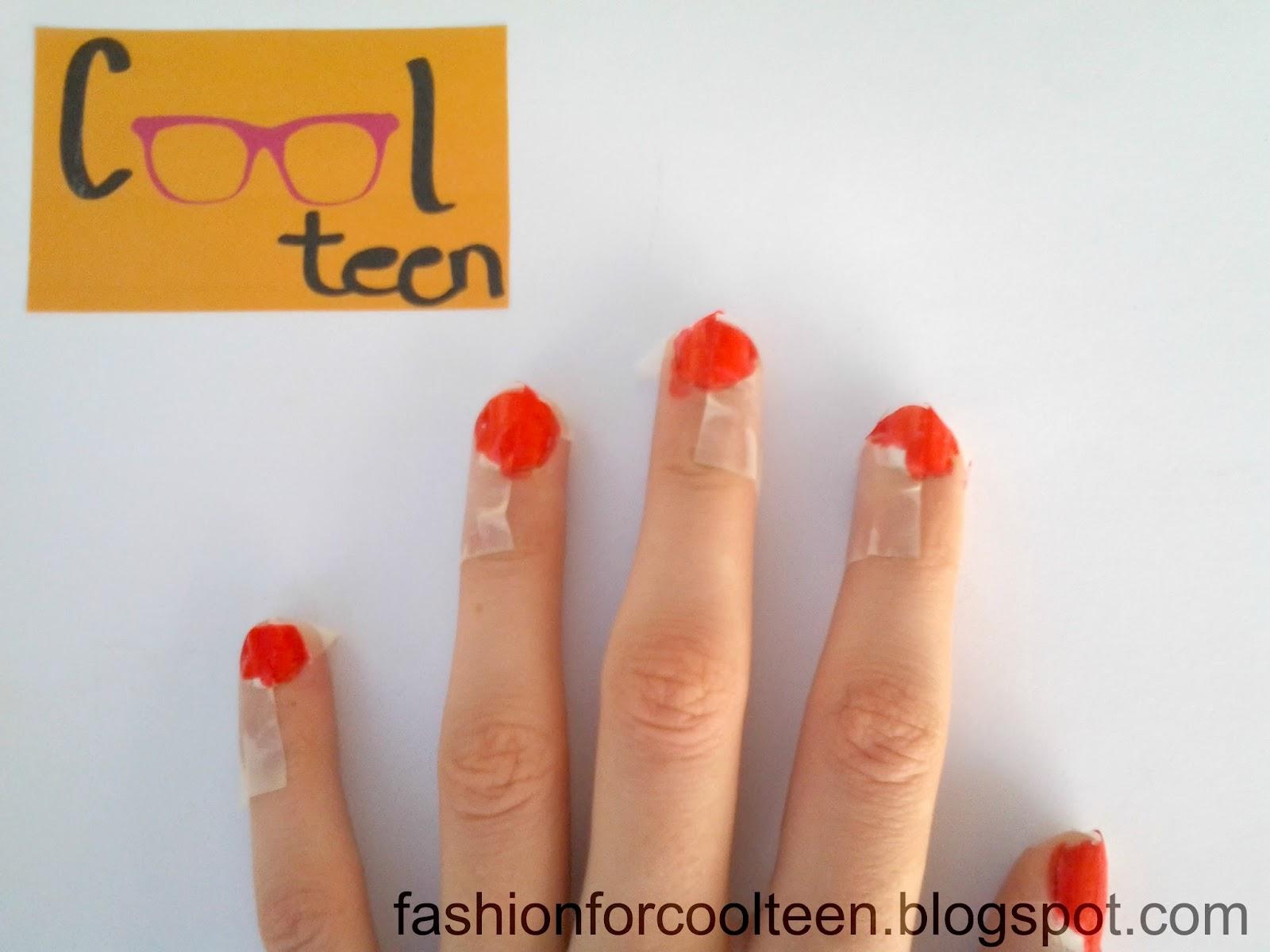 Cool teen: Uñas con estampado de ajedrez rojo