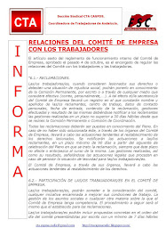 RELACIONES DEL COMITÉ DE EMPRESA CON LOS TRABAJADORES