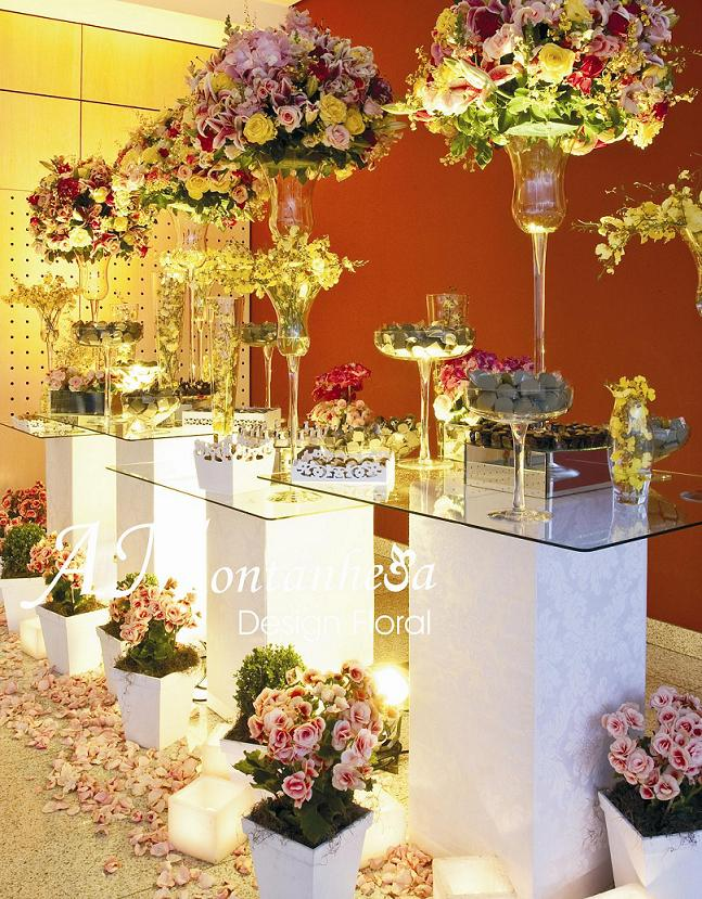 Arranjos de Flores -> Decoração De Mesa De Casamento Barato