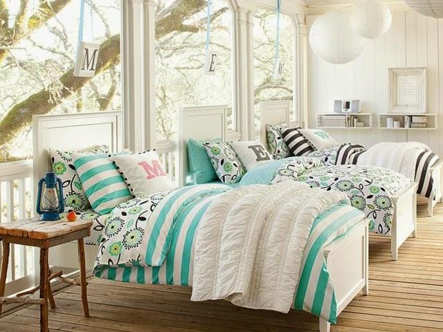 Dormitorios para tres hermanas adolescentes colores en casa for Cuarto para jovenes