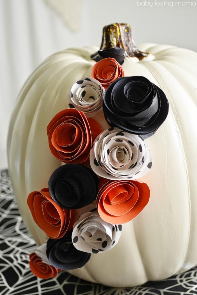 http://www.babylovingmama.com/2014/09/diy-white-pumpkin-decor-paper-flowers-halloween.html