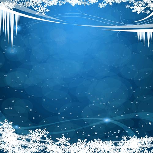 Nieve y hielo en cielo azul marino