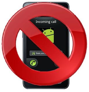 Tips Android Cara blokir nomor telepon panggilan masuk Call pesan SMS