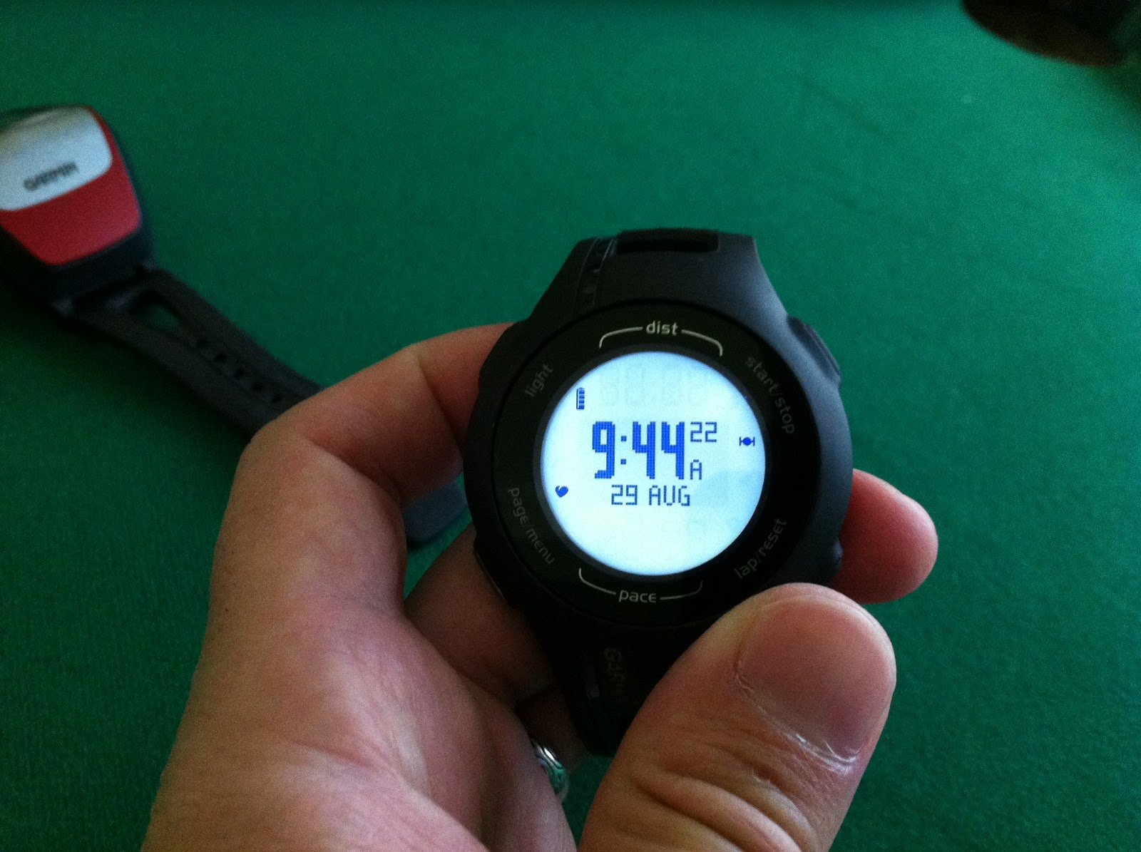 how to set time on garmin frontrunner