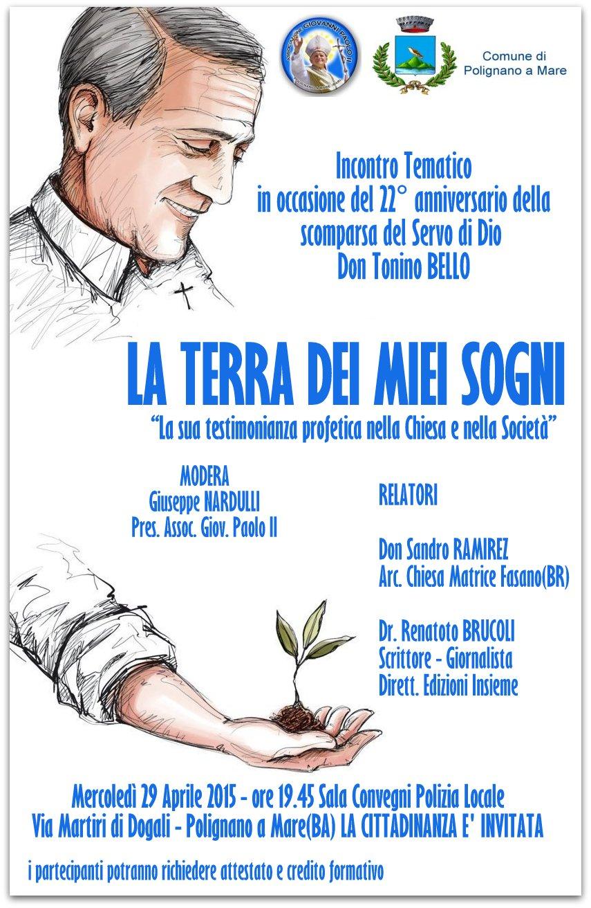 """Don Tonino BELLO - """"La terra dei miei sogni"""""""