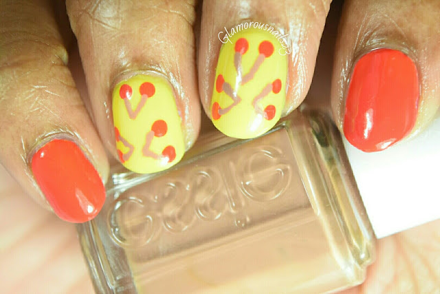 Cherry & Lemon Nail Art