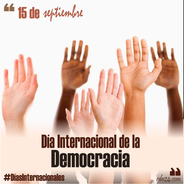 15 de septiembre – Día Internacional de la Democracia #DíasInternacionales