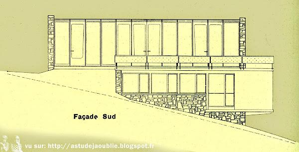 Meudon - Projet maison d'André Sive  Architecte: André Sive  Ingénieur: Jean Prouvé  Projet: 1950