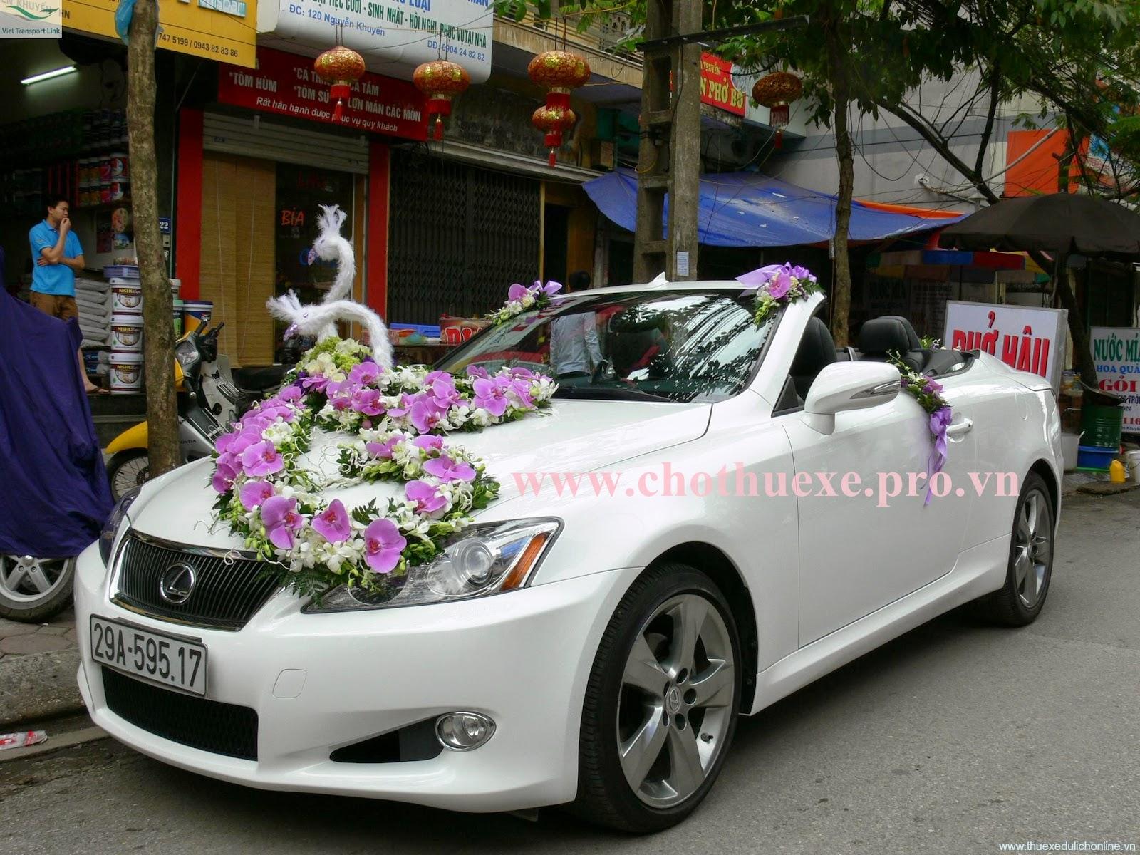 Cho thuê xe cưới Lexus IS250