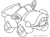 Gambar Mobil Kartun Antik Untuk Diwarnai Anak