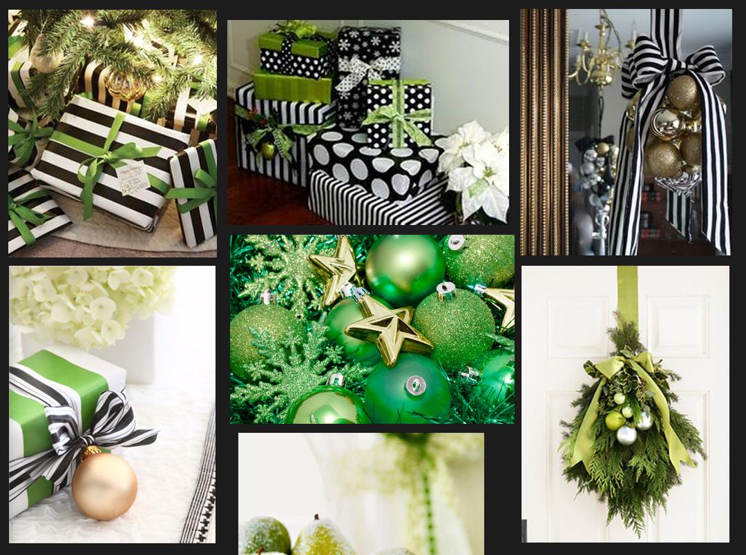 Rhianna's Studio Moodboard Monday Green Monday Holiday Spirit Green Black and White