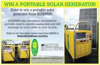 SUNRNR portable solar generator from Mother Earth News