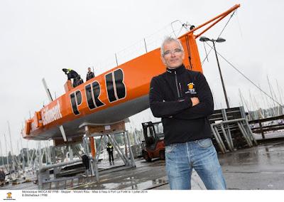 PRB de Vincent Riou remis à l'eau.