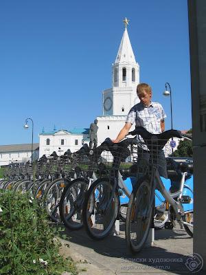 Прокат велосипедов у Казанского кремля