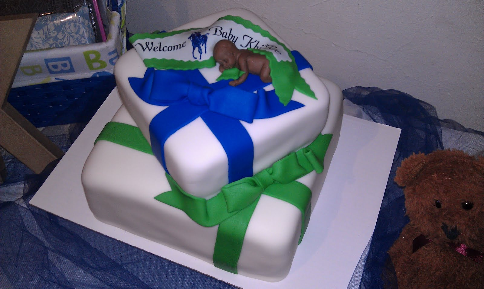 Polo Theme Baby Shower Cake And Cake Table