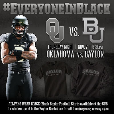 Baylor to unleash Blackout for Nov. 7 showdown with Oklahoma.