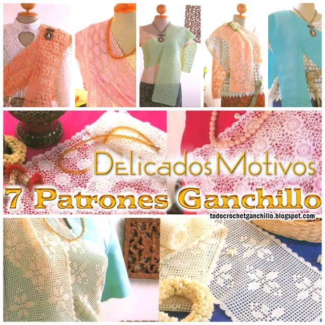 Chalinas y caminos de mesa con delicados diseños / Patrones Crochet ...