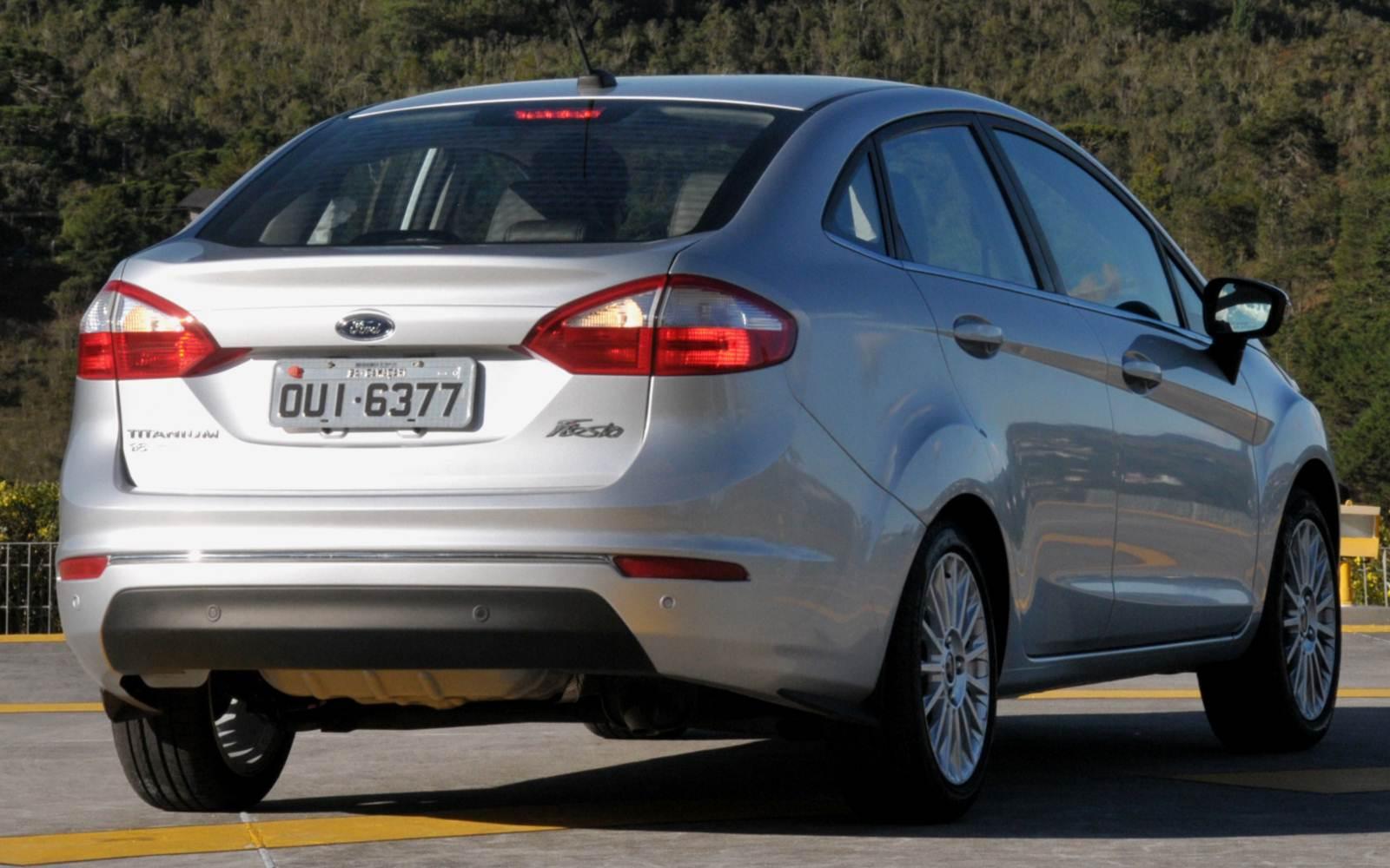 do New Fiesta Sedan , que, à exemplo do seu irmão hatch, também