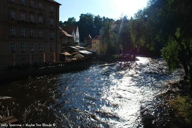 Vltava River Cesky Krumlov castle