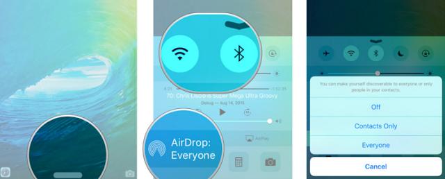 IOS में एयरड्राप कैसे इस्तेमाल करें
