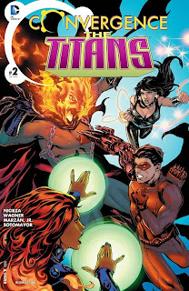 Cover of Convergence:The Titans #2 from DC Comics