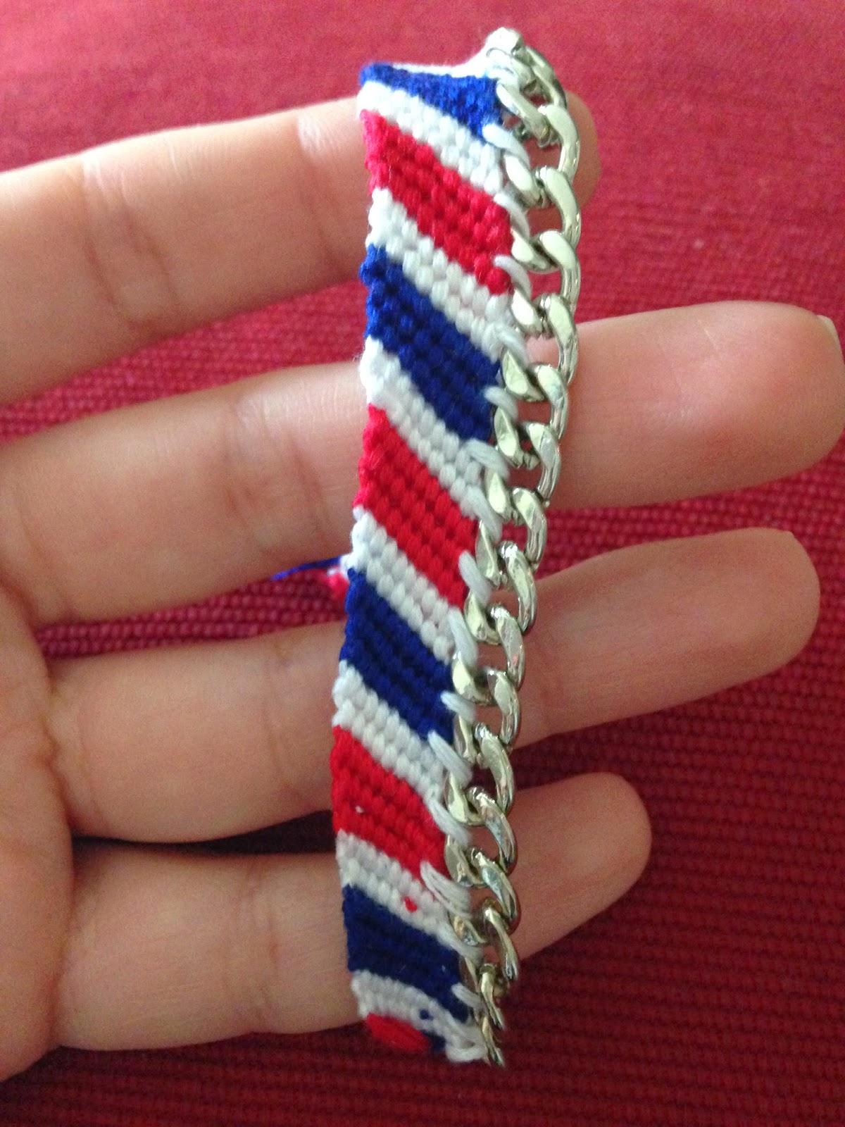 Attach chain link to friendship bracelet