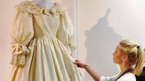 Princess Di dress being tweaked, HVB vintage wedding blog