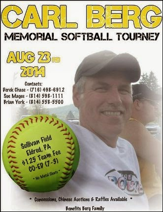 8-23 Carl Berg Memorial Softball Tourney