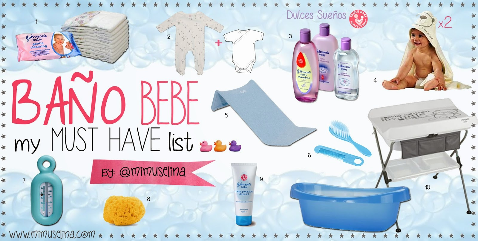 Baño bebe Must Have List