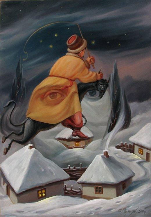 Cuadros dobles; Oleg Shuplyak (ilusiones ópticas)