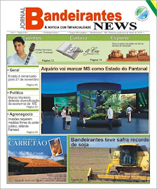 Capa do Jornal Bandeirantes News