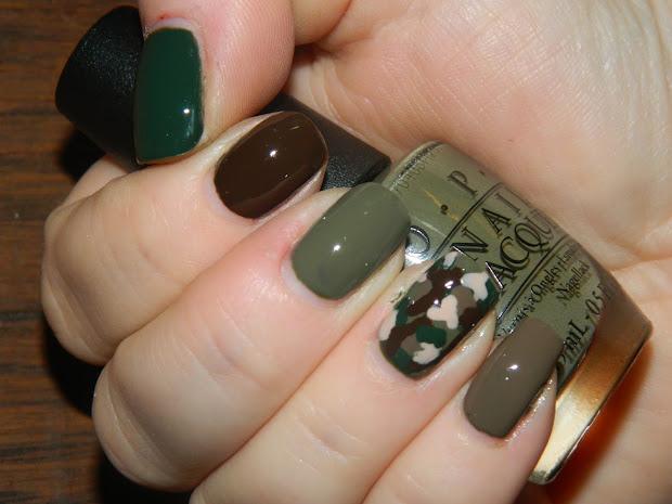 sassy swatches camo nails