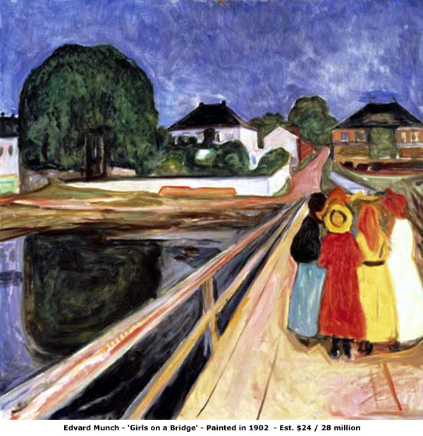 Edvard Munch / Edvard Munk  Edvard+Munch+Girls+On+A+Bridge
