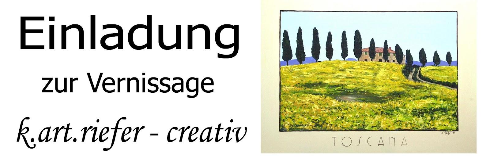 """eppelblog: einladung zur vernissage """"k.art.riefer - creativ"""", Einladung"""