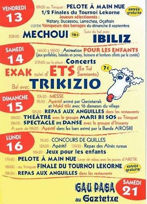 programme fêtes de mendionde 2013