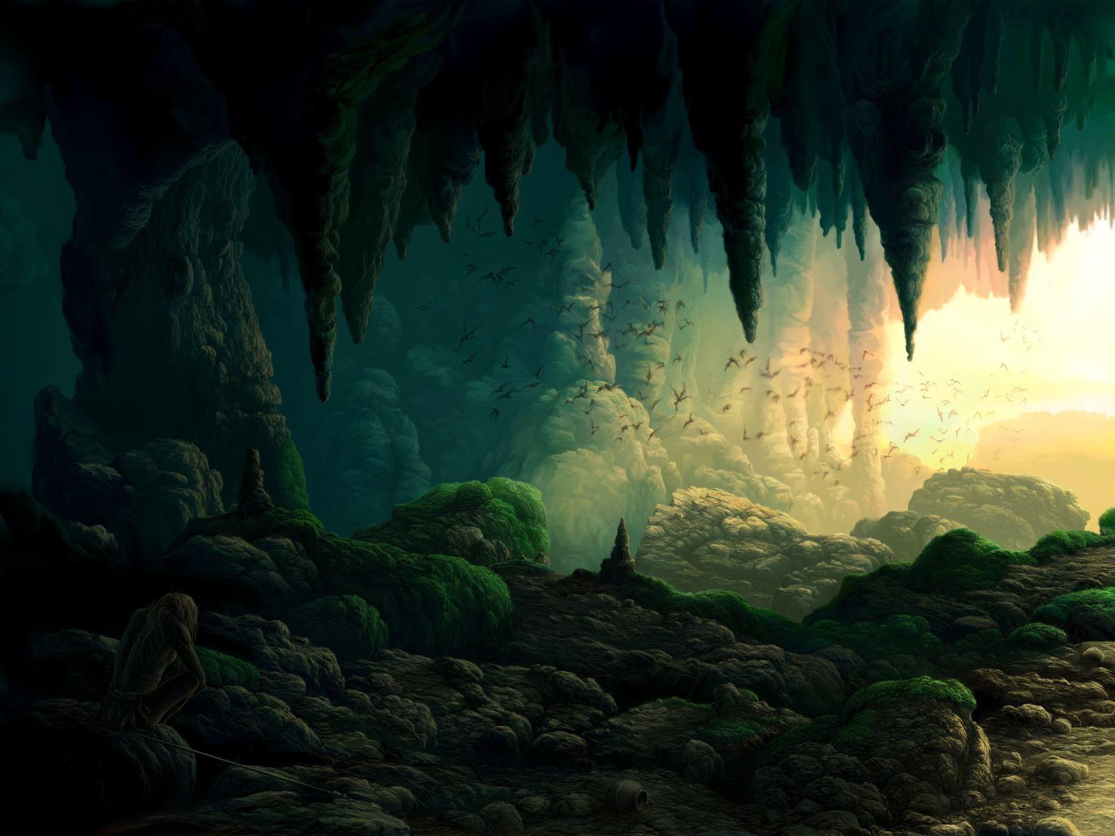 Boys were taken into the caves to be initiated as hunters.