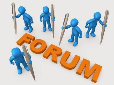 Imagem ilustrativa com desenhos debatendo sobre um fórum especializado de discussão.