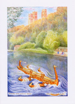 Durham greetings cards for sale by UK artist Ingrid Sylvestre