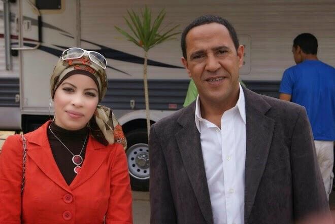 مع الفنان أشرف عبد الباقى عام 2010