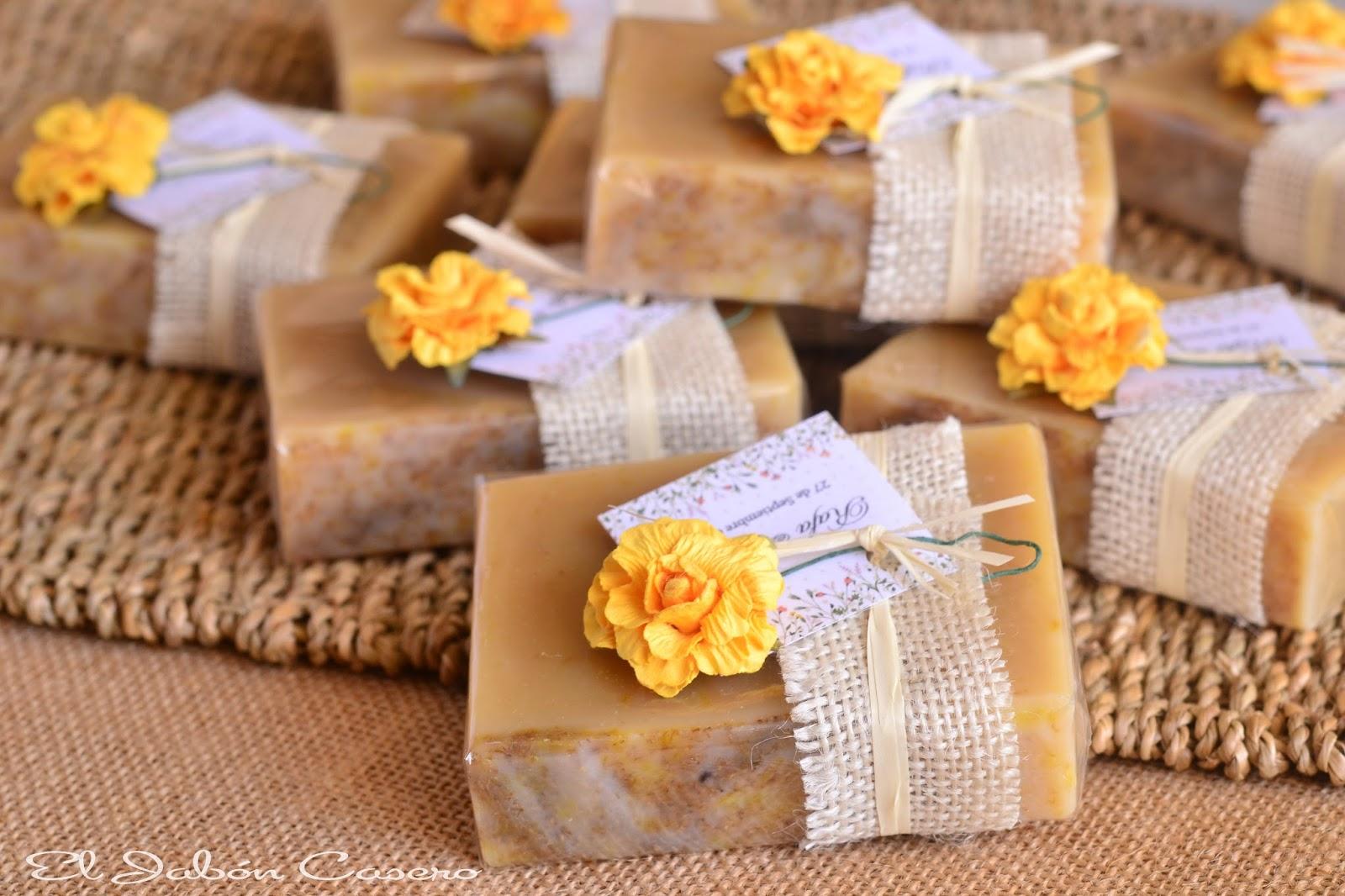 jabones de camomila para regalar a invitados bodas
