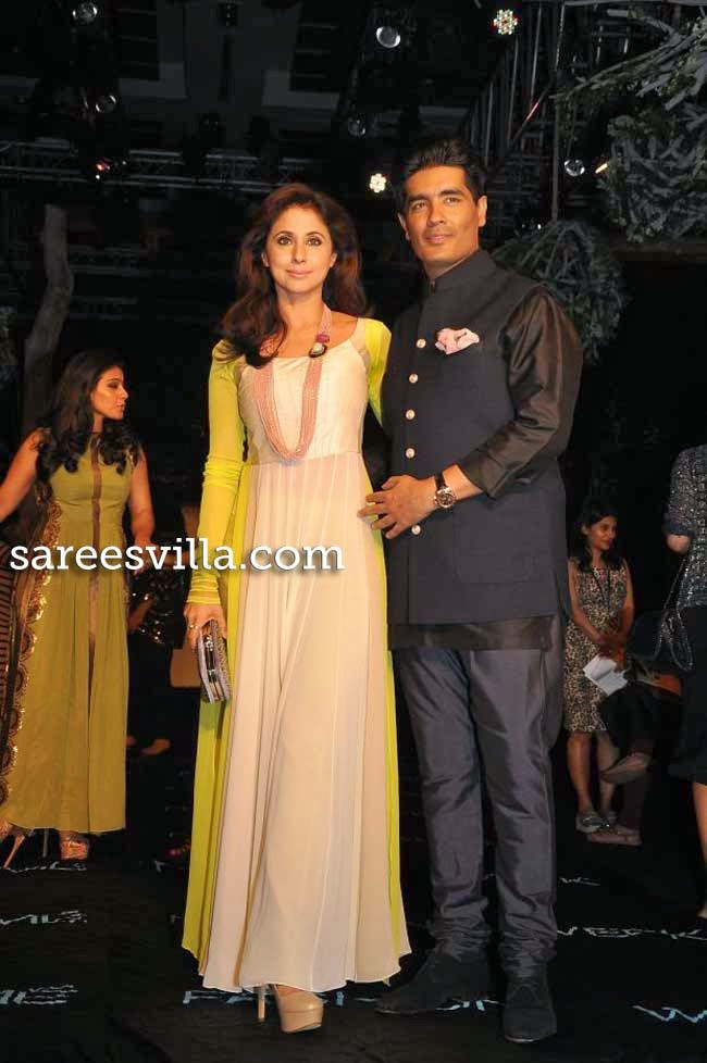 Urmila Matondkar and Fashion designer Manish Malhotra