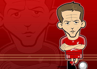 Steven Gerrard Funny Cartoon Hd Wallpaper