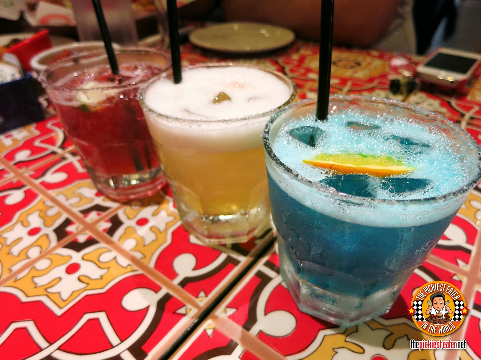colored margaritas